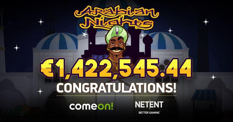 Svensk jackpottvinnare på Arabian Nights